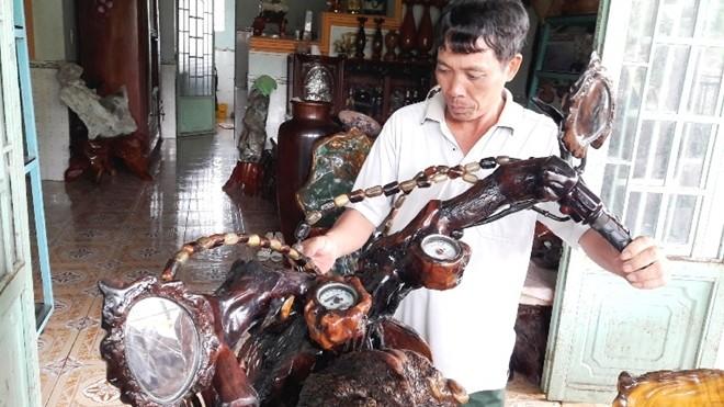 Mô tô bằng gốc cây của nông dân Lâm Đồng khiến dân chơi xe sửng sốt - ảnh 7
