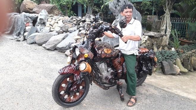 Mô tô bằng gốc cây của nông dân Lâm Đồng khiến dân chơi xe sửng sốt - ảnh 10