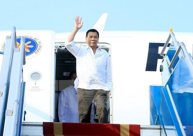Tổng thống Philippines Duterte đã đến Hà Nội - ảnh 1
