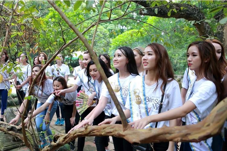 Người đẹp Hoa hậu Bản sắc Việt thích thú với cây ổi 'biết cười' - ảnh 5