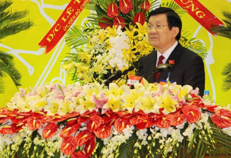 Chủ tịch nước dự Đại hội Đảng bộ tỉnh Bình Dương  - ảnh 1