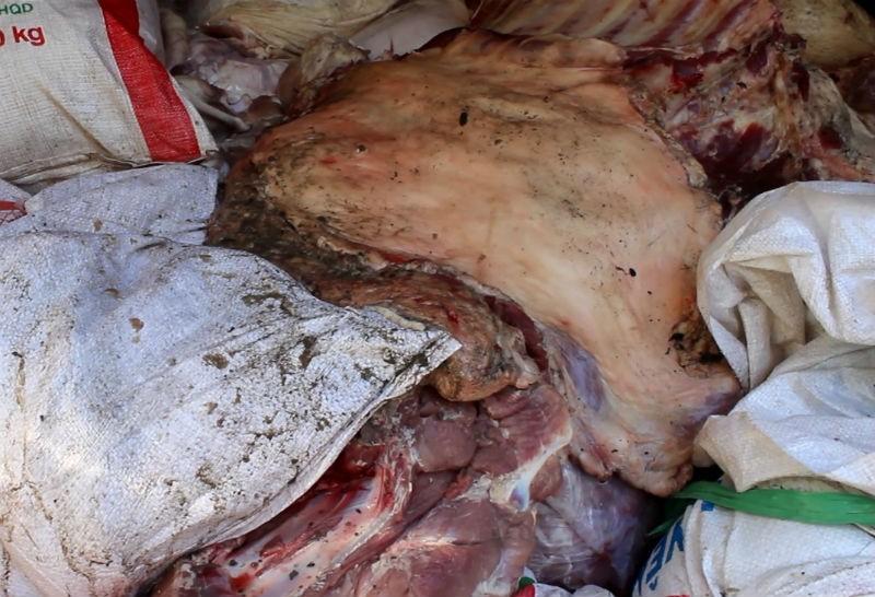 Bắt gần 5 tấn thịt heo thối trước khi bán tại chợ công nhân - ảnh 2