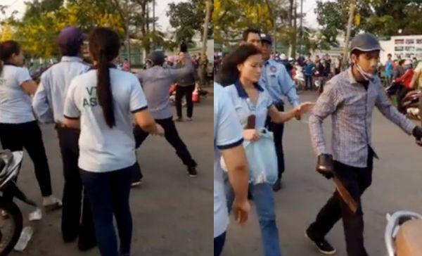 Nữ công nhân bị chém trước cổng công ty - ảnh 1