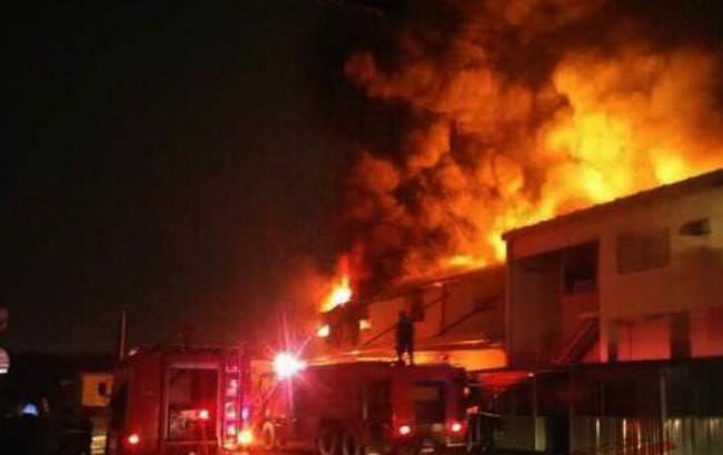 Cháy lớn tại Công ty Suzuki Việt Nam trong đêm - ảnh 1