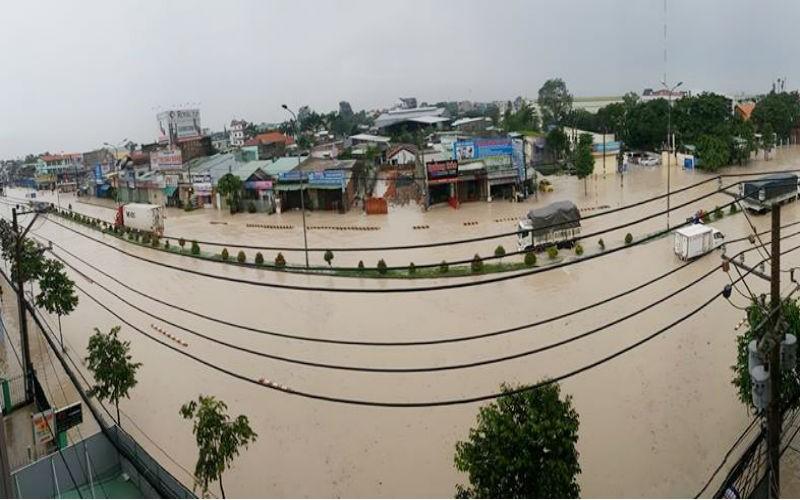 Đồng Nai: Mưa lớn ngập khủng khiếp, học sinh nghỉ học - ảnh 1