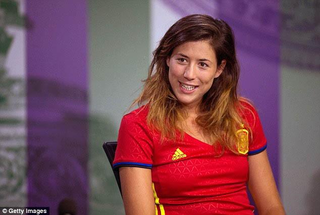 Tay vợt xinh đẹp Garbine Muguruza thích Ramos và ủng hộ Tây Ban Nha  - ảnh 1