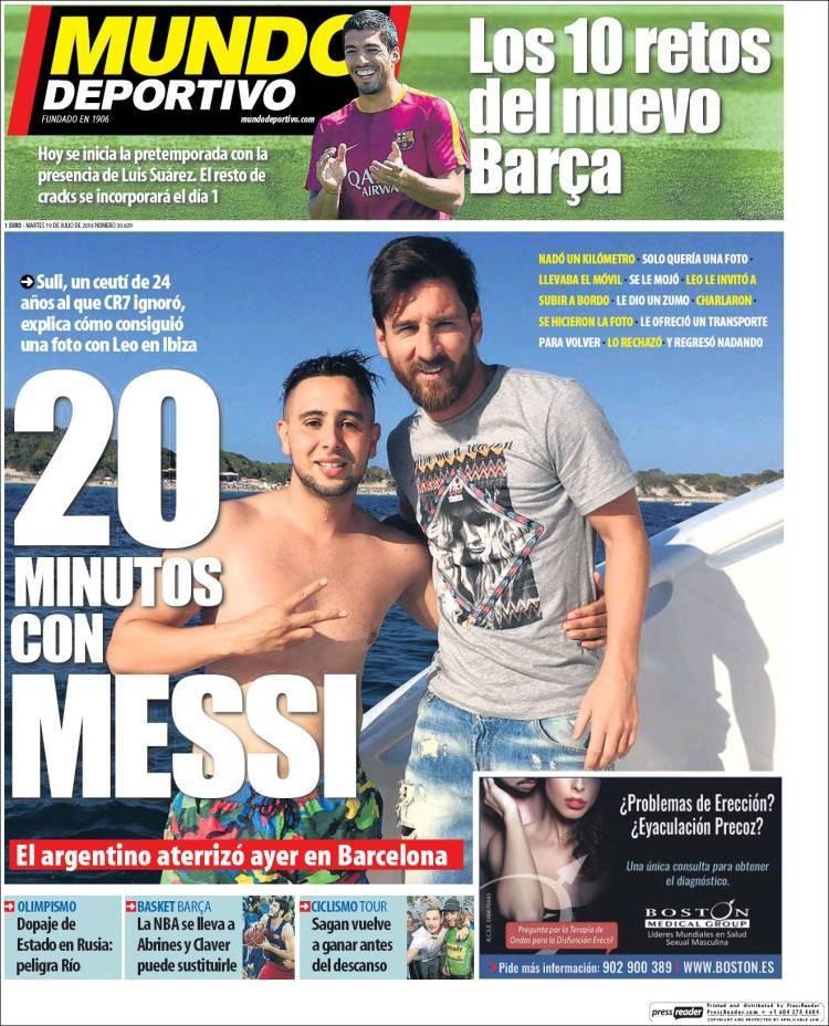 Suli rất vui mừng gặp và chụp ảnh cùng thần tượng của mình Lionel Messi