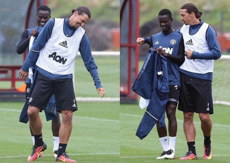 Zlatan Ibrahimovic và buổi tập đầu tiên trong màu áo Quỷ đỏ - ảnh 2