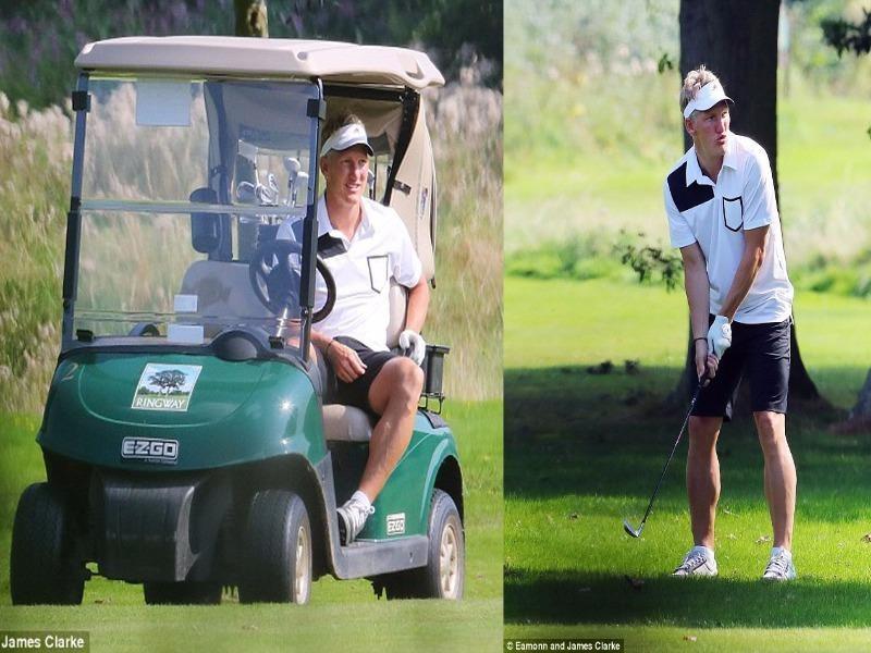 Bastian Schweinsteiger chơi golf