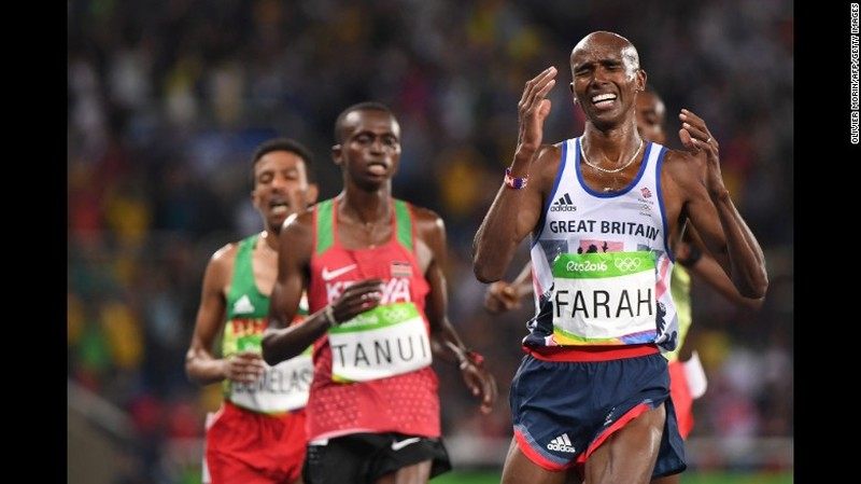 Mo Farah hoàn thành cú đúp HCV tại Olympic - ảnh 2