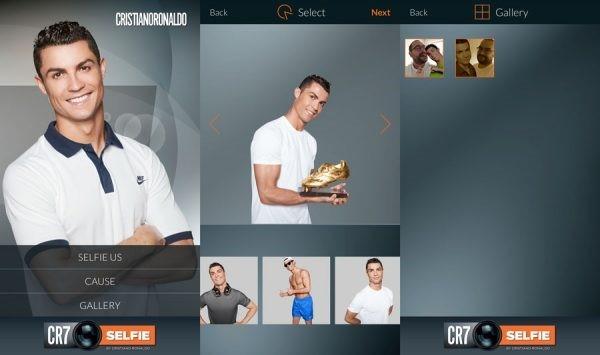 Doanh thu từ dịch vụ ứng dụng mới của CR7Selfie cũng được Ronaldo làm từ thiện