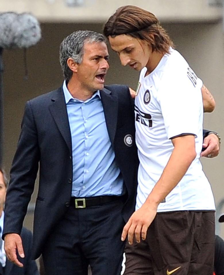 Ibrahimovic từng là học trò của Jose Mourinho khi còn khoác áo Inter Milan