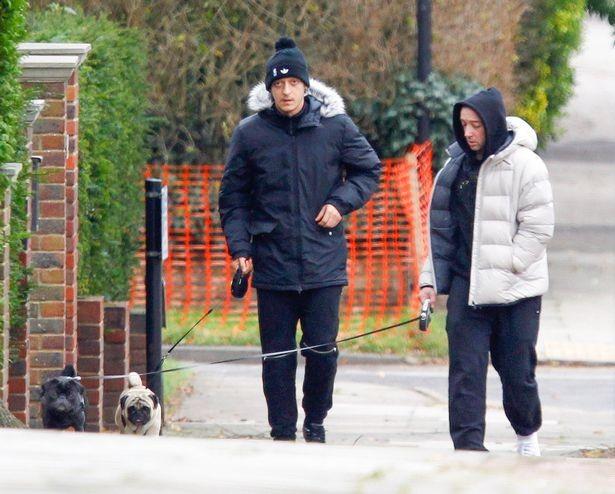 Mesut Ozil chơi bóng với cún cưng Paul Pugboa - ảnh 1